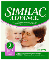 Similac Advance  6-18 months packaging